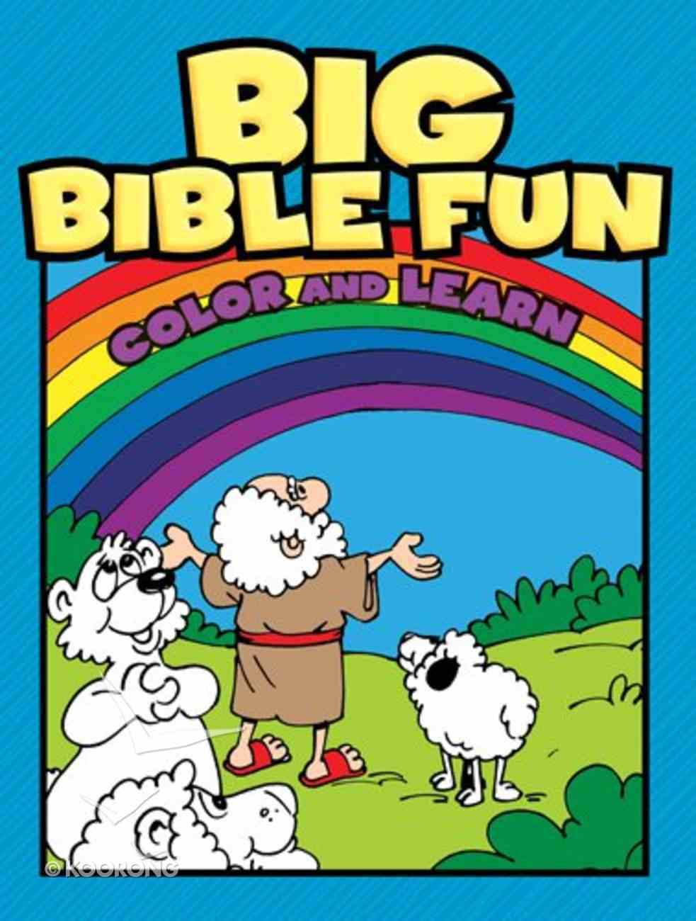 Big Bible Fun #01: Color and Learn Paperback