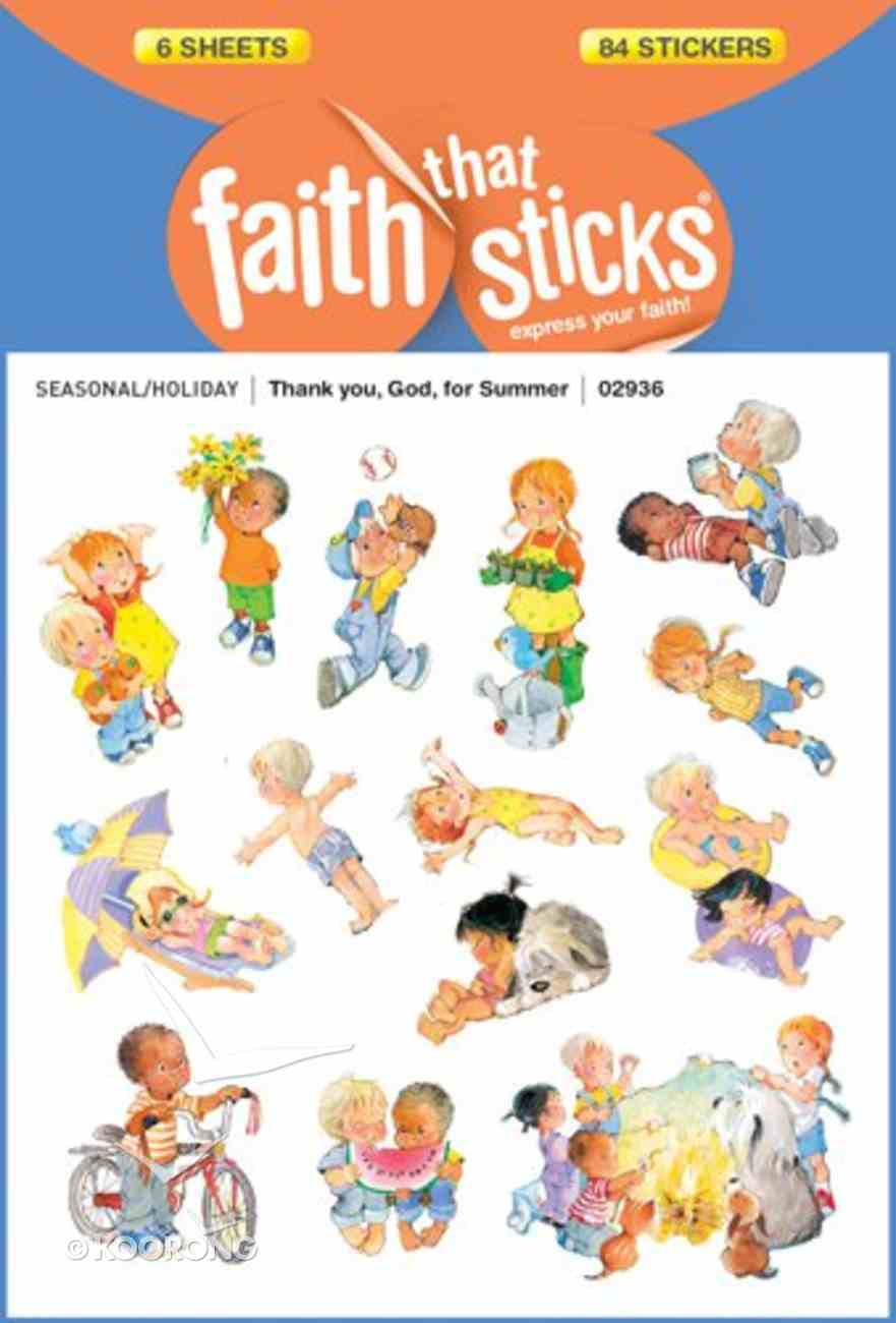 Thank You, God, For Summer (6 Sheets, 84 Stickers) (Stickers Faith That Sticks Series) Stickers