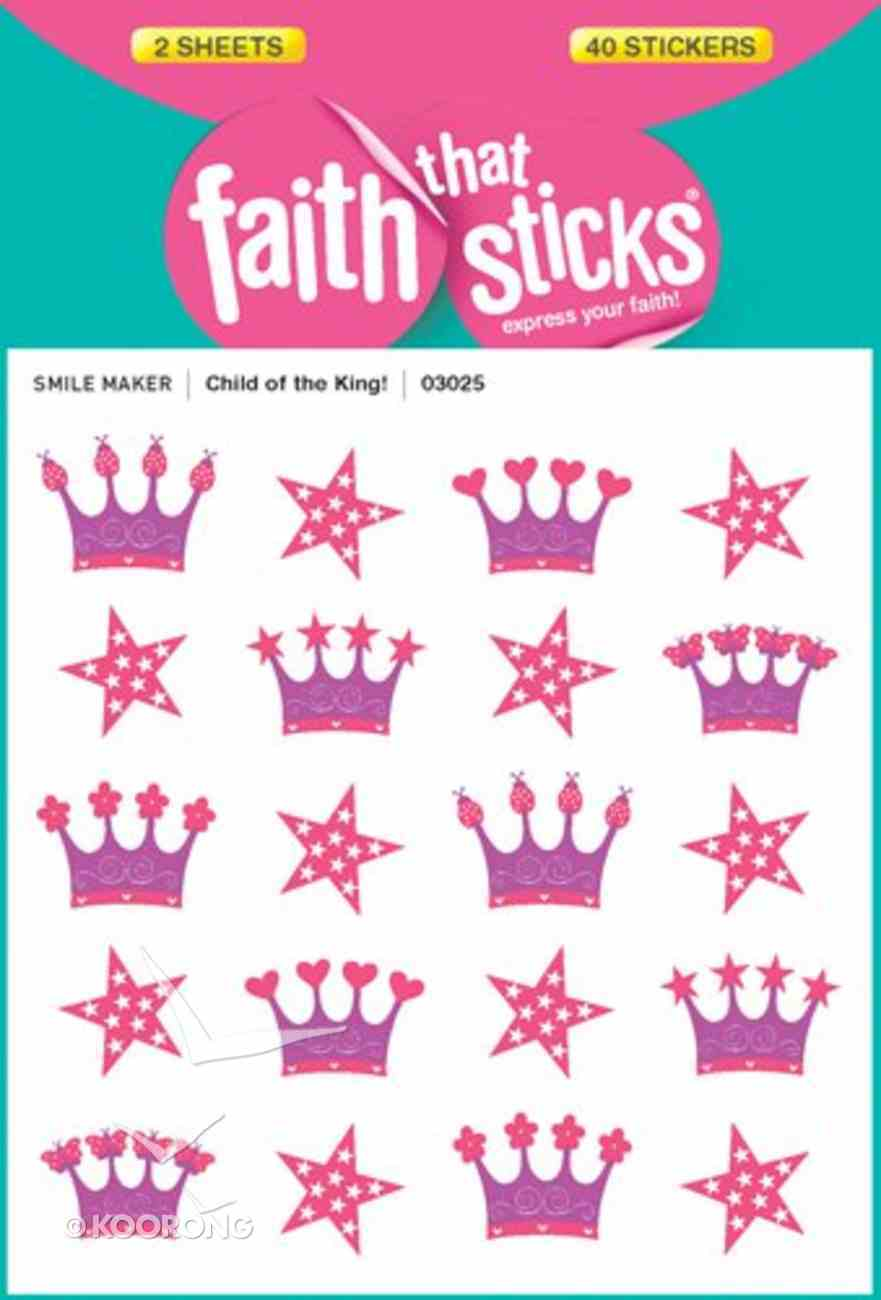 Child of the King! (2 Sheets, 16 Puffy Stickers) (Stickers Faith That Sticks Series) Stickers
