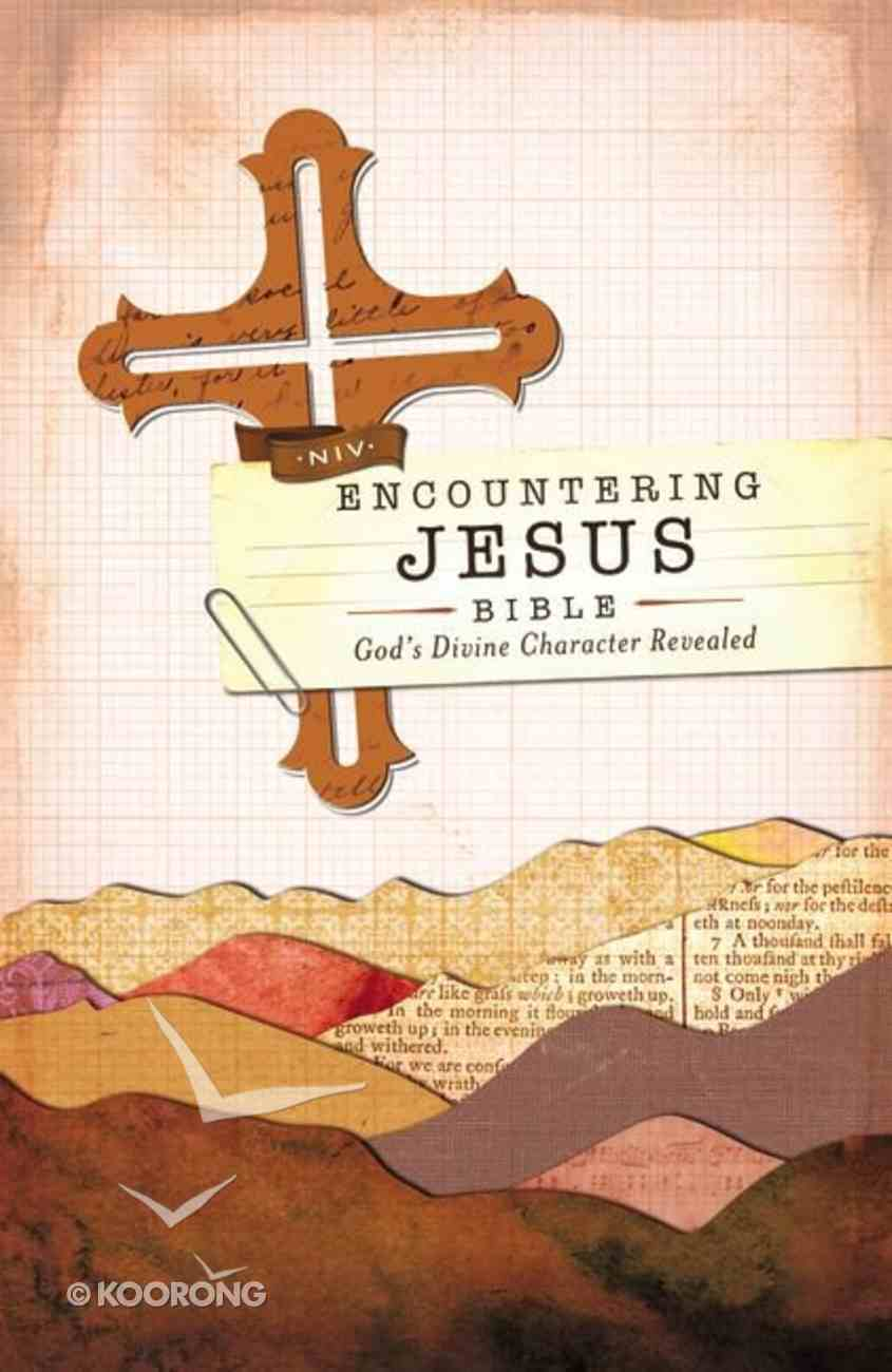 NIV Encountering Jesus Bible (Red Letter Edition) Hardback