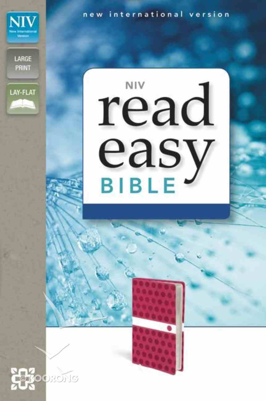 NIV Readeasy Bible Hot Pink Polka-Dot Italian Duo-Tone Large Print (Red Letter Edition) Imitation Leather