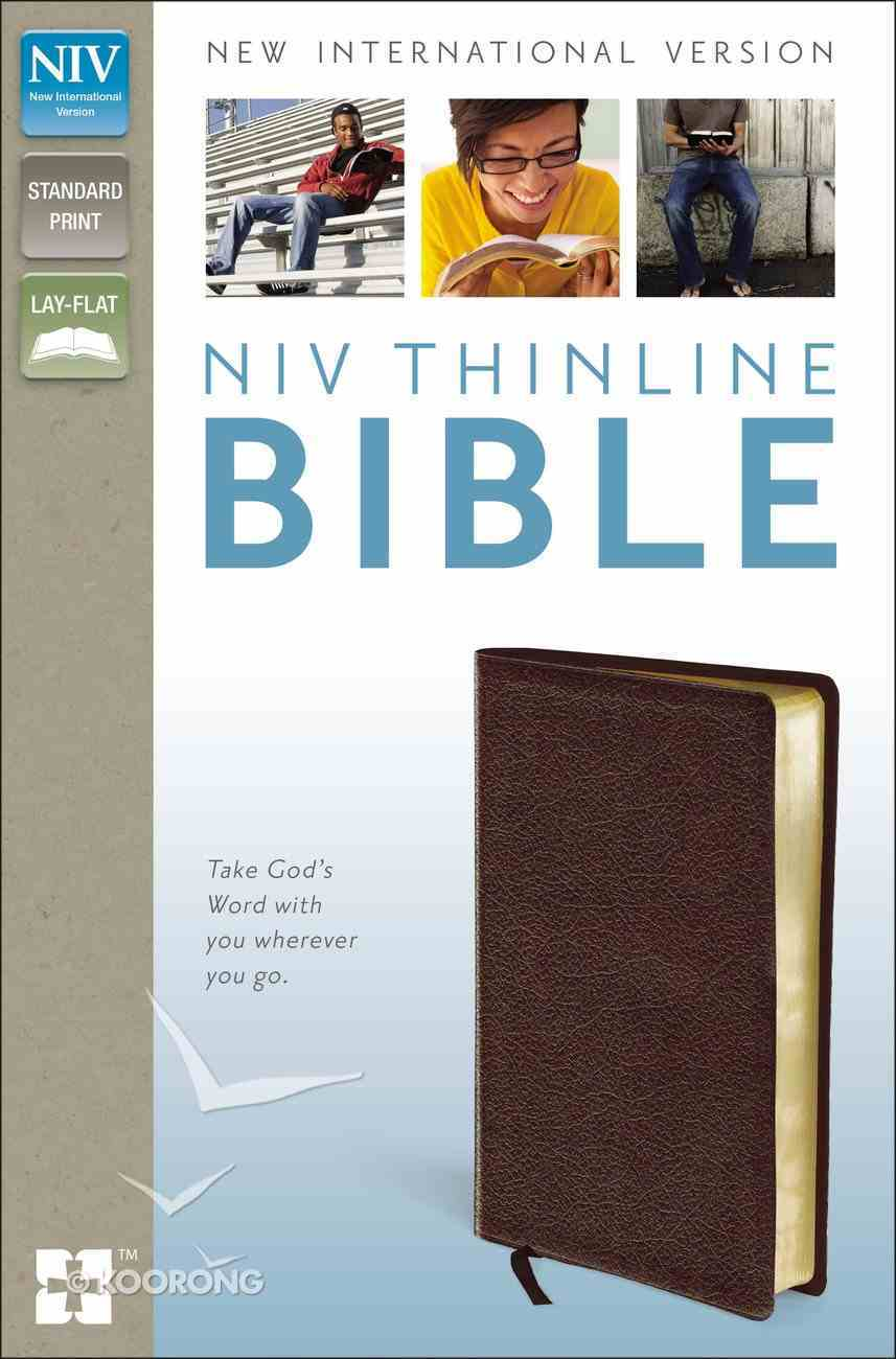 NIV Thinline Bible Burgundy (Red Letter Edition) Bonded Leather