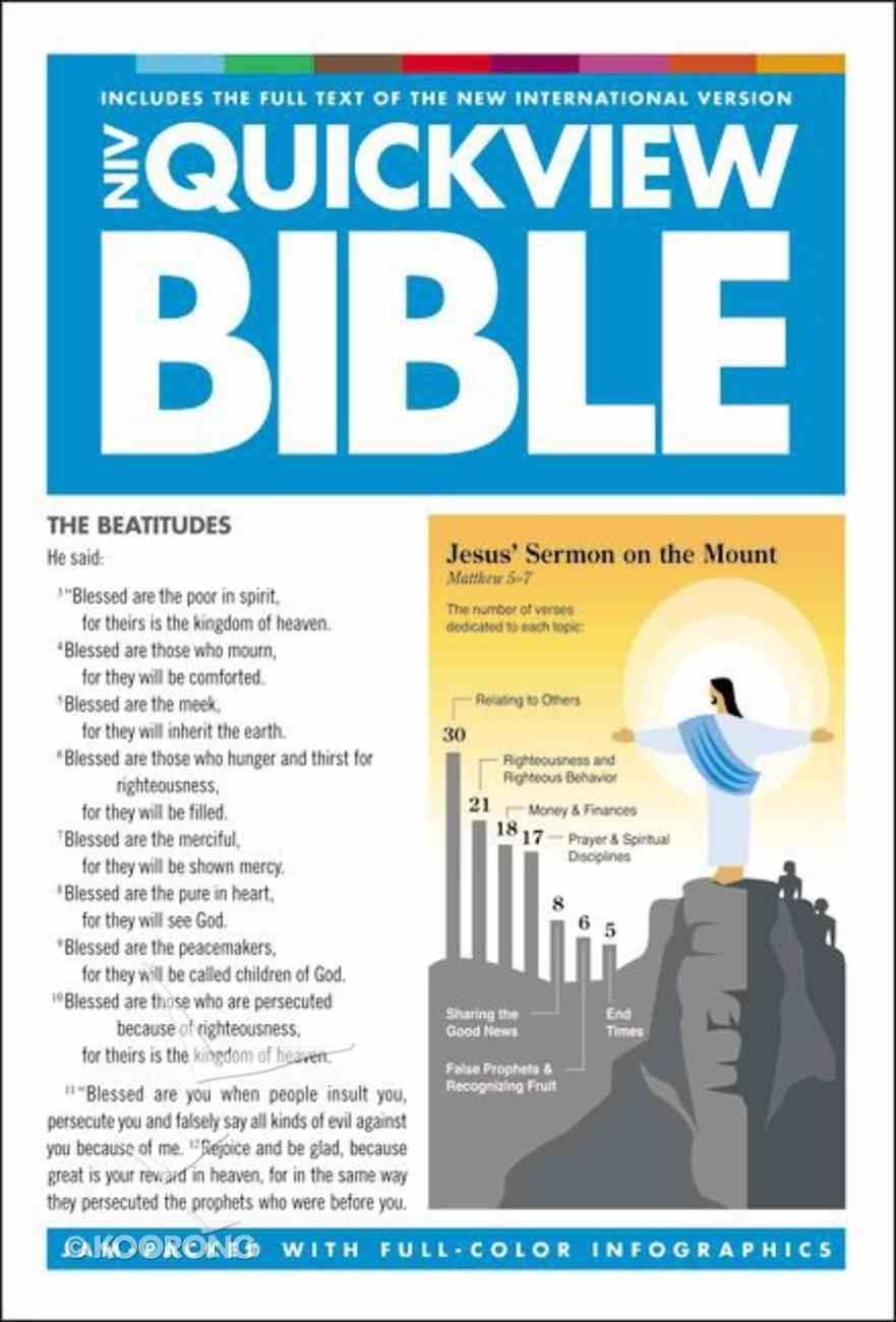 NIV Quickview Bible Hardback