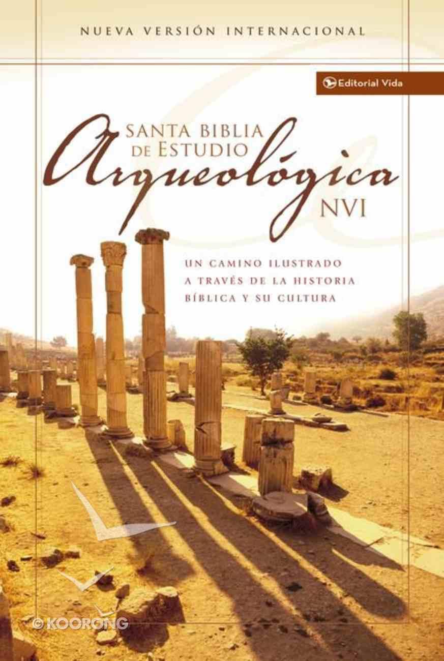 Nvi Biblia De Estudio Arqueologica (Red Letter Edition) (Nvi Archaeological Study Bible) Hardback