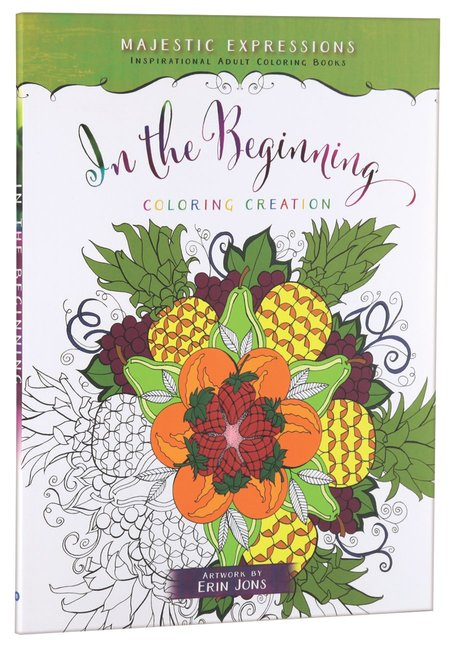 Product: Adult Colouring Book: In The Beginning Colouring Creation Image