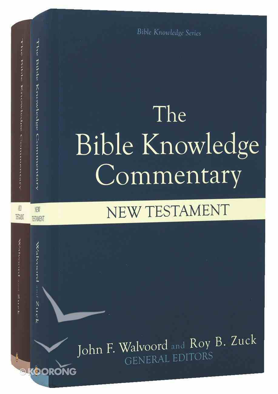 Old and New Testament (2 Volume Set) (Bible Knowledge Commentary Series) Hardback