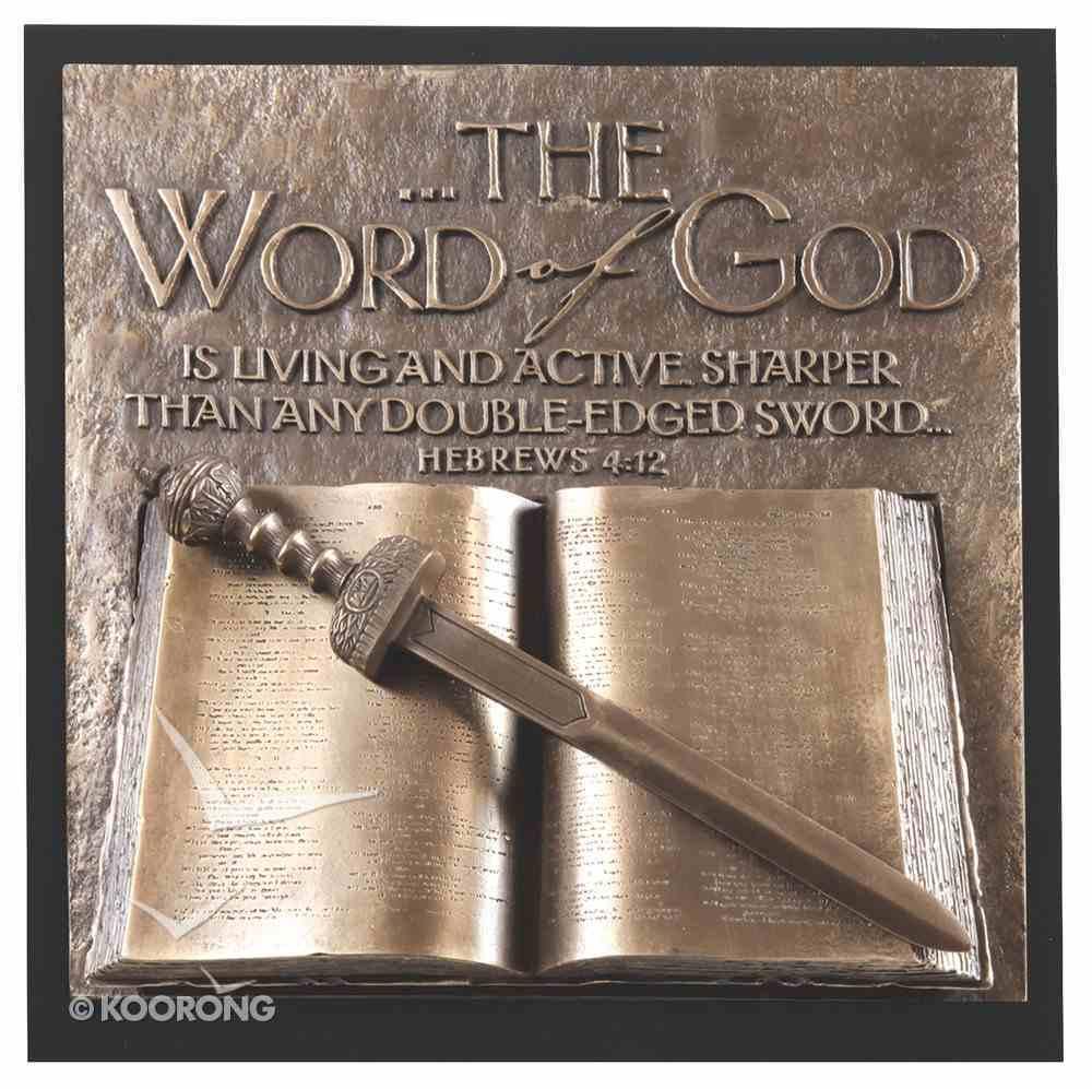 Word of God Moments of Faith Sculpture Plaque Plaque