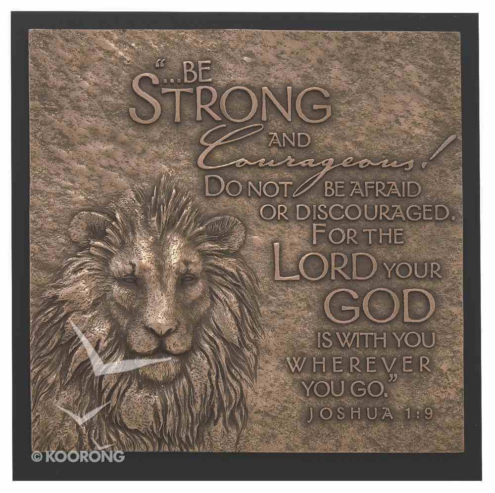 Lion Moments of Faith Sculpture Plaque Plaque