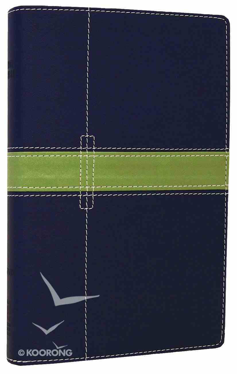 NIV Thinline Bible Midnight Blue/Moss Green Duo-Tone (Red Letter Edition) Imitation Leather