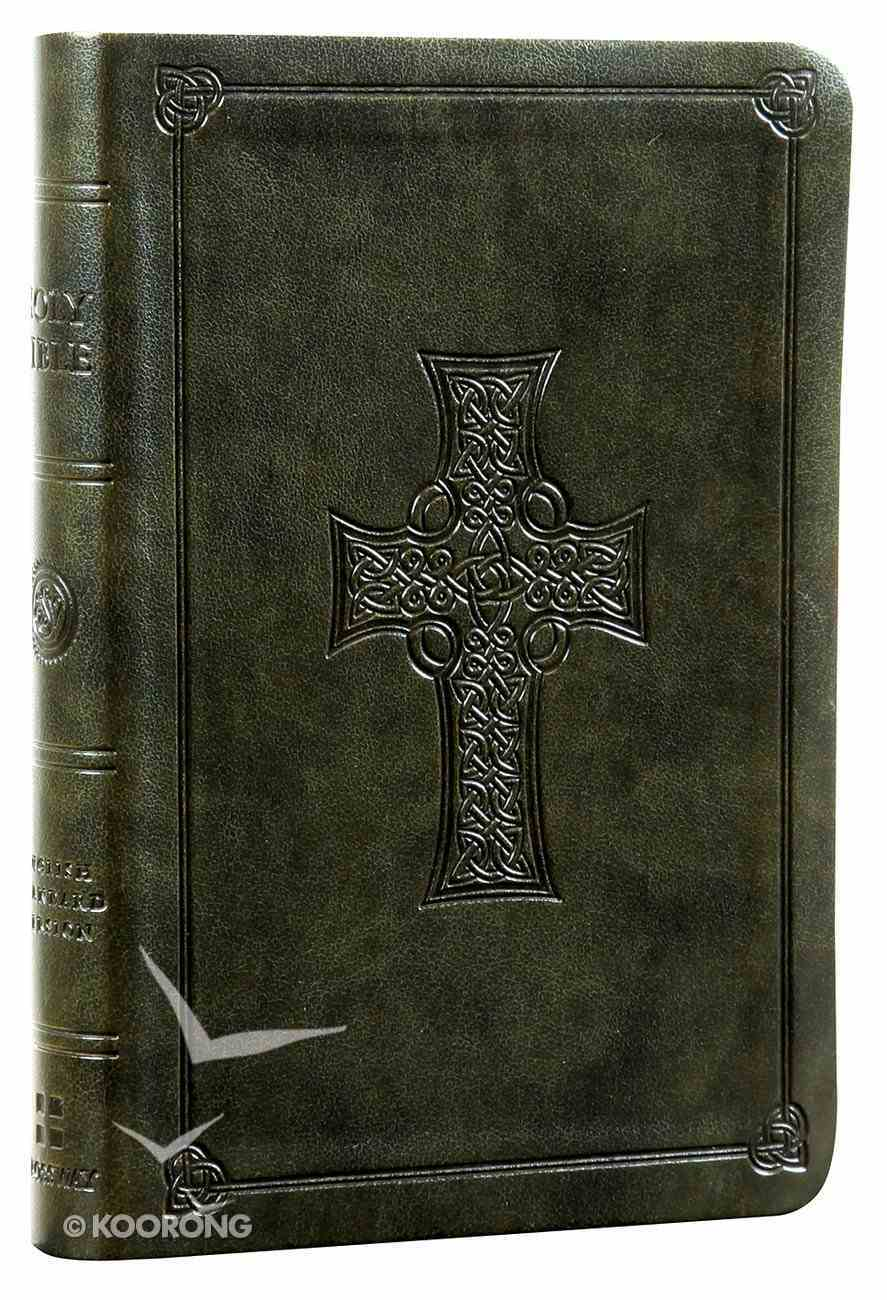 ESV Value Compact Bible Olive Celtic Cross Trutone (Black Letter Edition) Imitation Leather