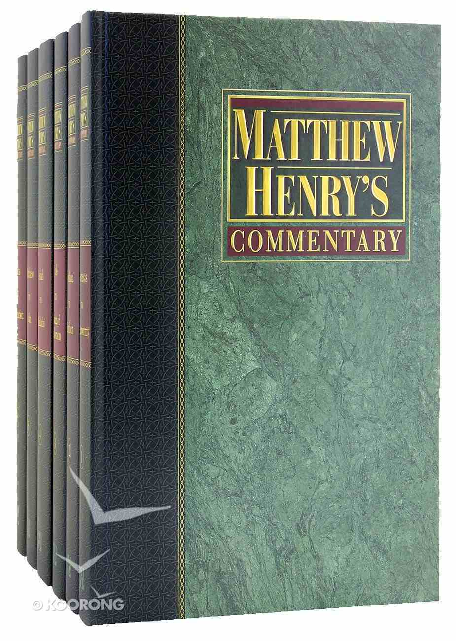 Matthew Henry's Commentary on the Whole Bible (6 Vols Set) Hardback