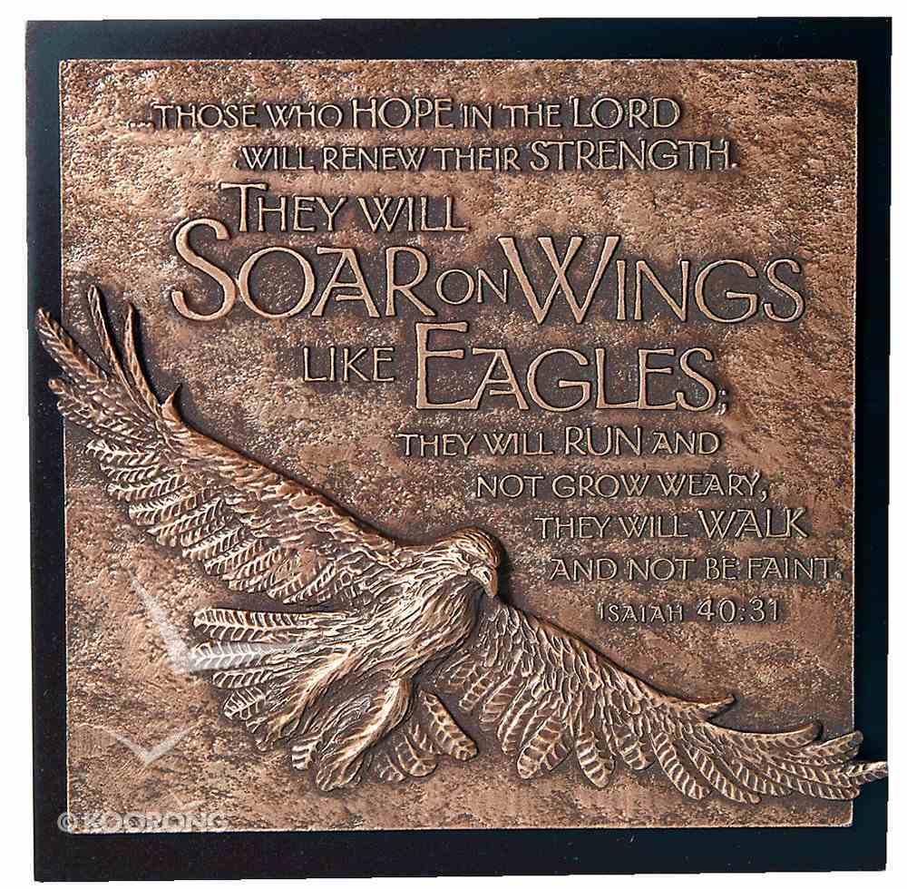 Eagle Moments of Faith Sculpture Plaque Plaque