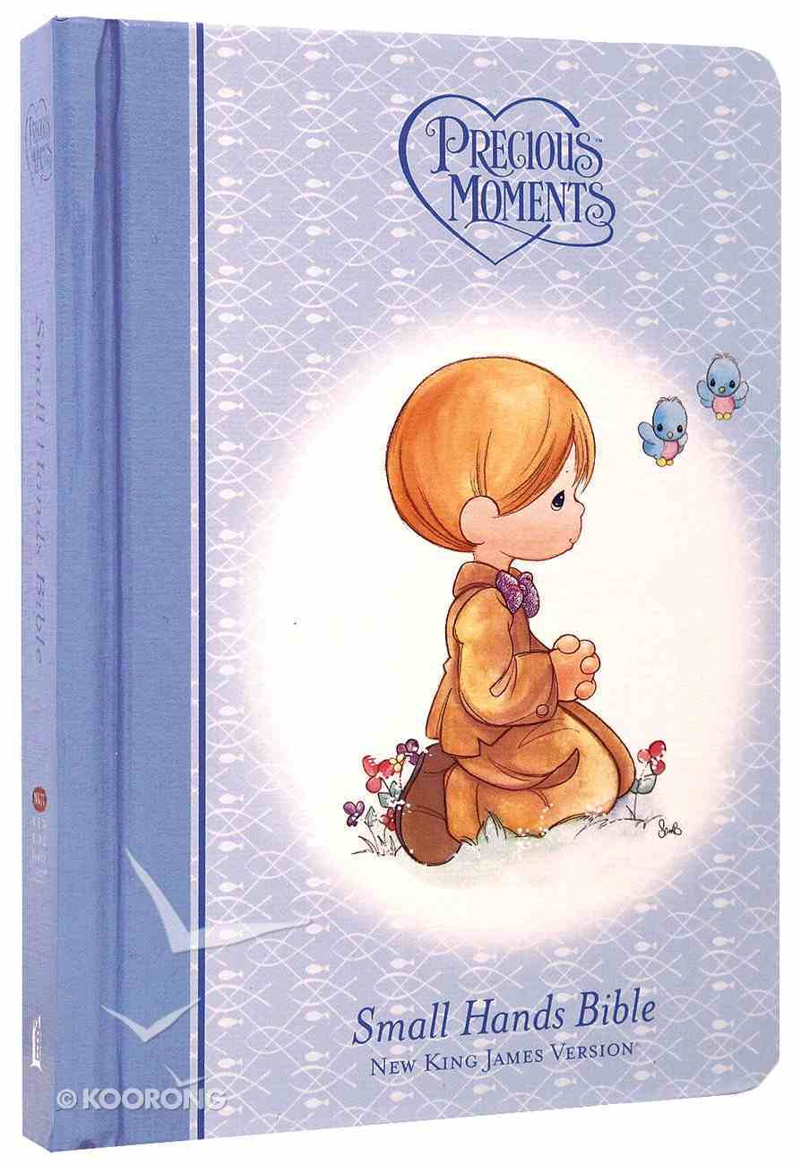 NKJV Precious Moments Holy Bible Blue (Red Letter Edition) (Small Hands Edition) Hardback