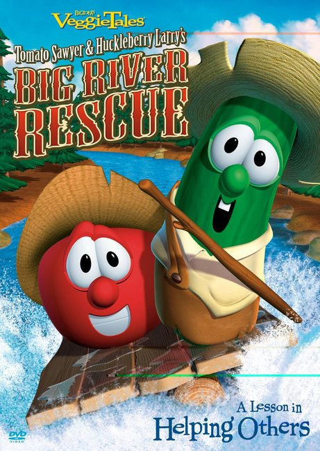 Product: Dvd Veggie Tales #33: Tomato Sawyer & Huckleberry Larry: Big River Rescue Image