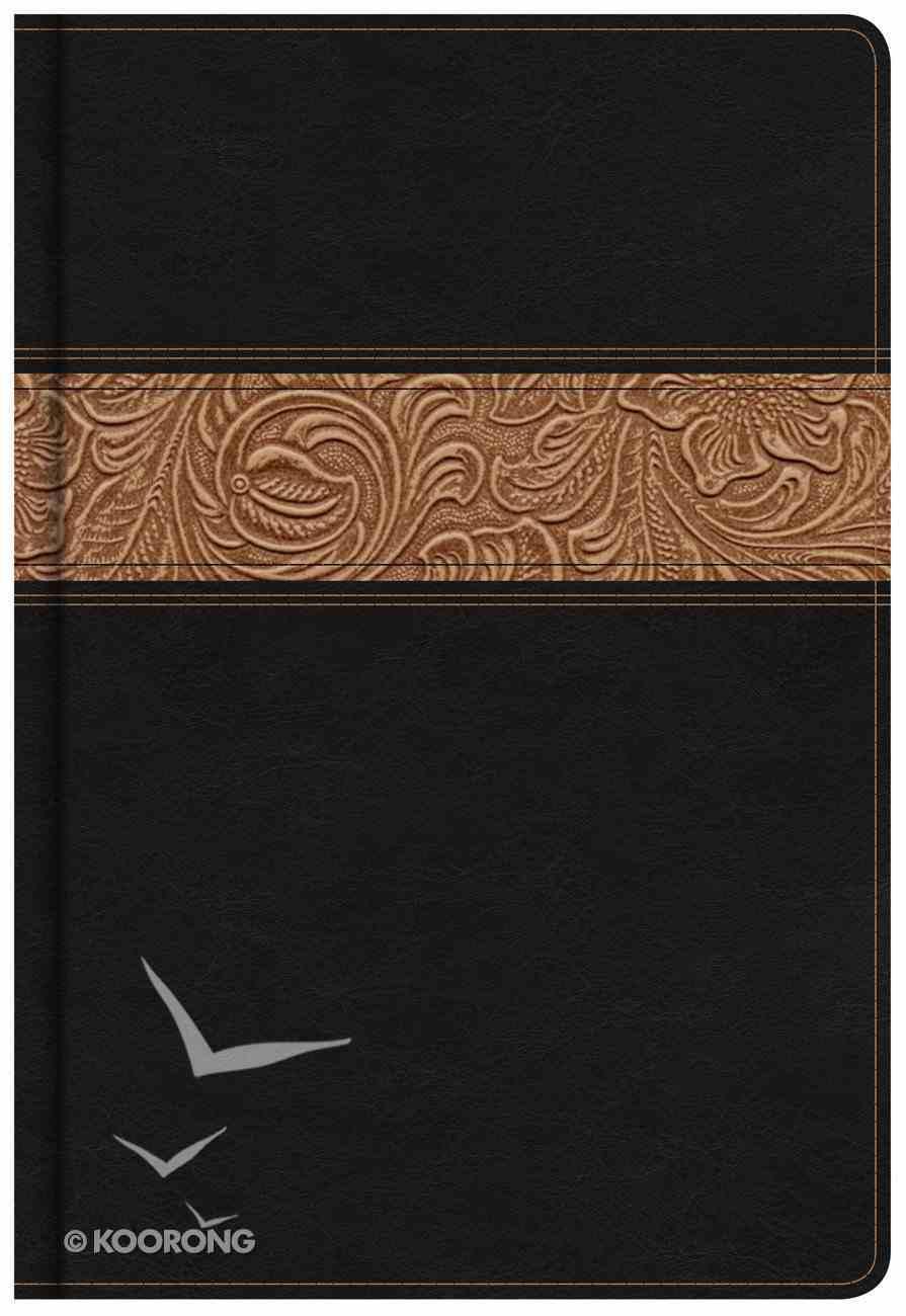 KJV Reader's Bible Black/Brown Tooled Leathertouch Imitation Leather