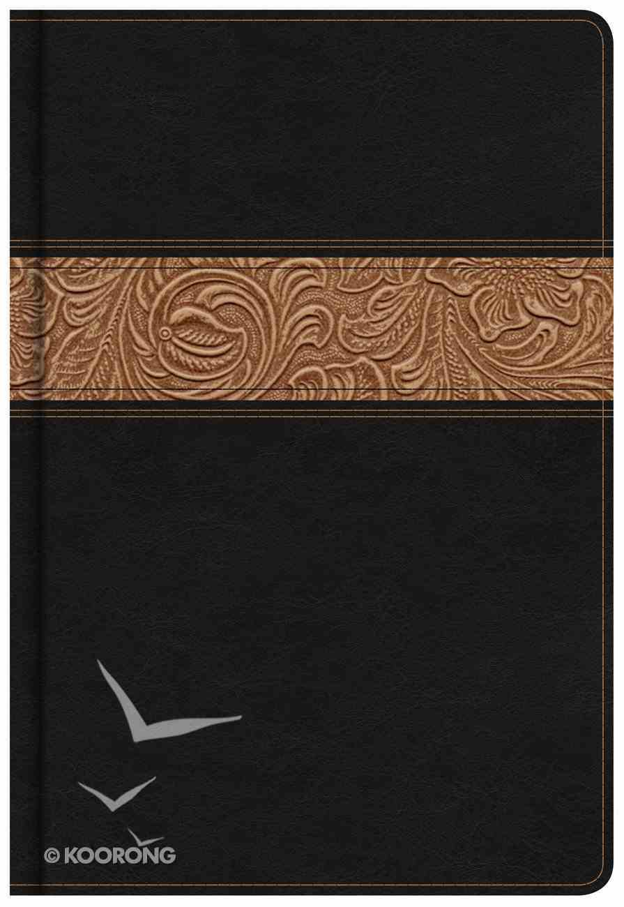 NKJV Reader's Bible Black/Brown Tooled Imitation Leather