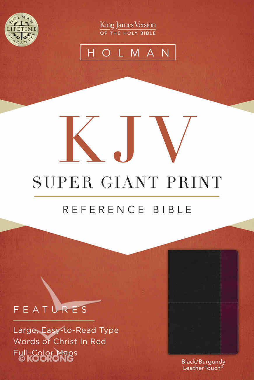KJV Super Giant Print Reference Bible Black/Burgundy Leathertouch Imitation Leather