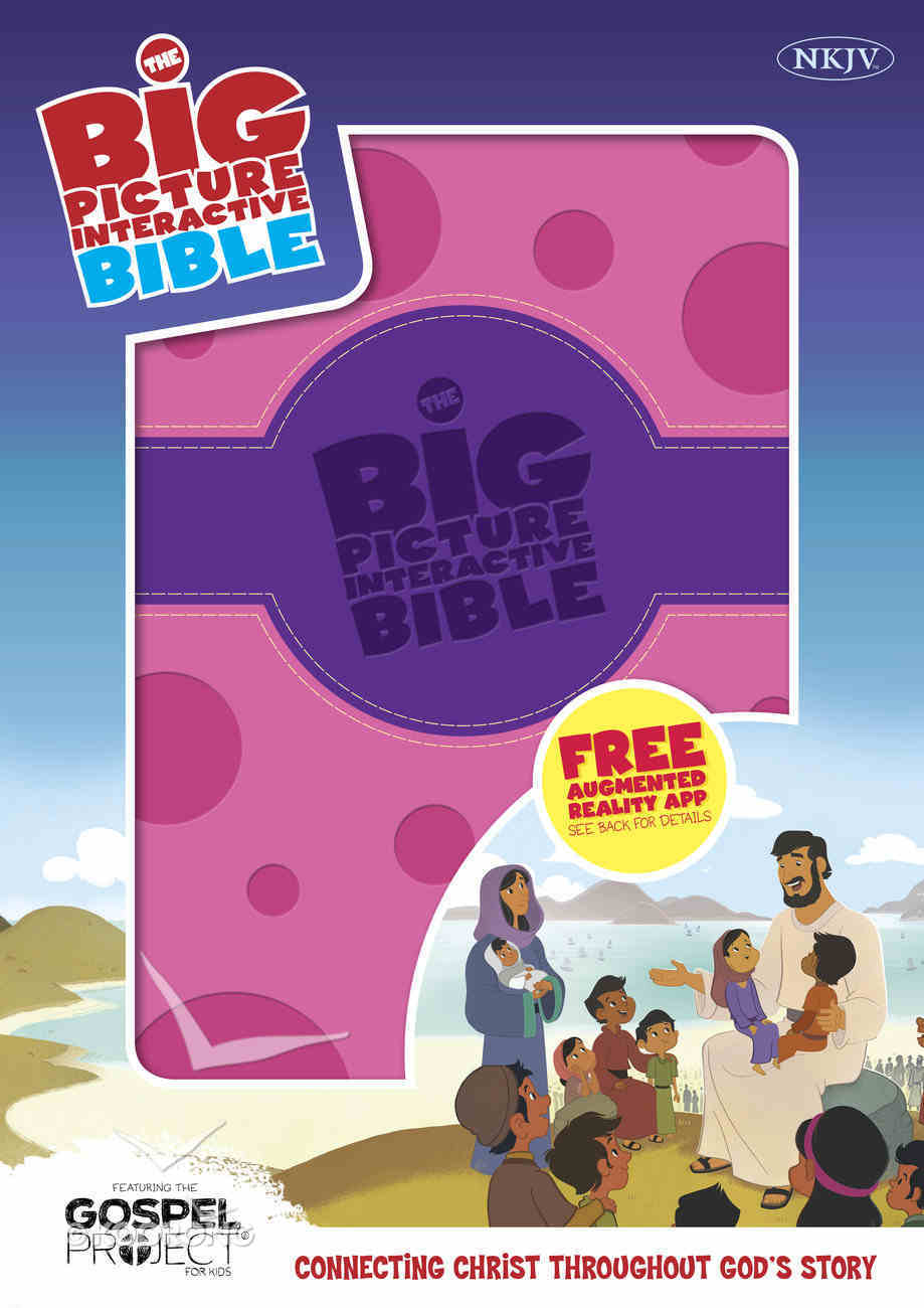 The NKJV Big Picture Interactive Bible, Purple/Pink Polka Dot Leathertouch Imitation Leather