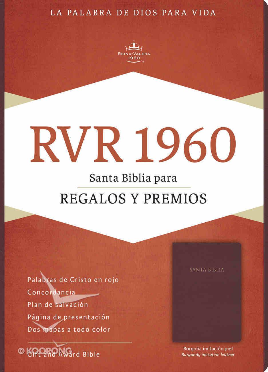 Rvr 1960 Biblia Para Regalos Y Premios Borgona (Red Letter Edition) (Burgundy) Imitation Leather