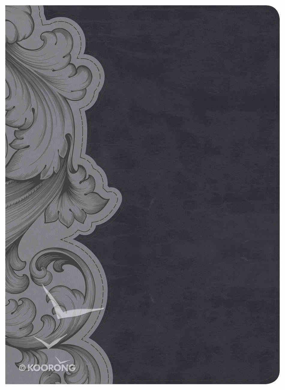 HCSB Study Bible, Smoke/Slate Leathertouch Imitation Leather