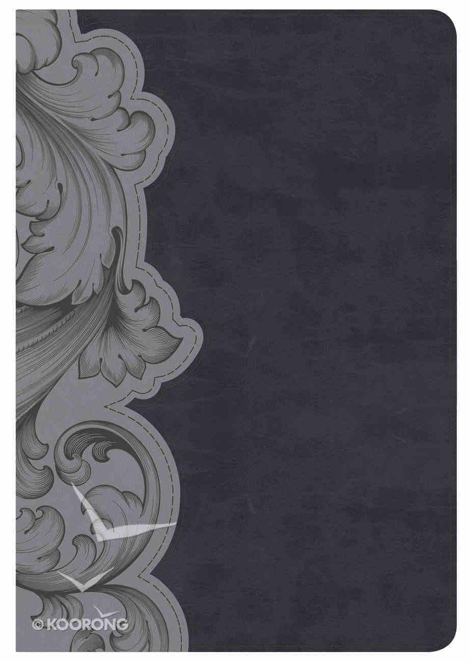 NKJV Holman Study Bible Personal Size, Smoke/Slate Imitation Leather