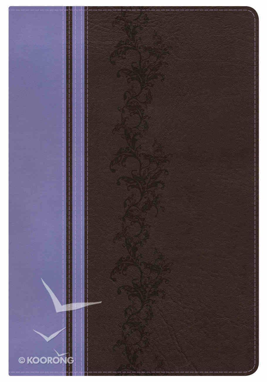 KJV Rainbow Study Bible, Brown/Lavender Indexed Imitation Leather