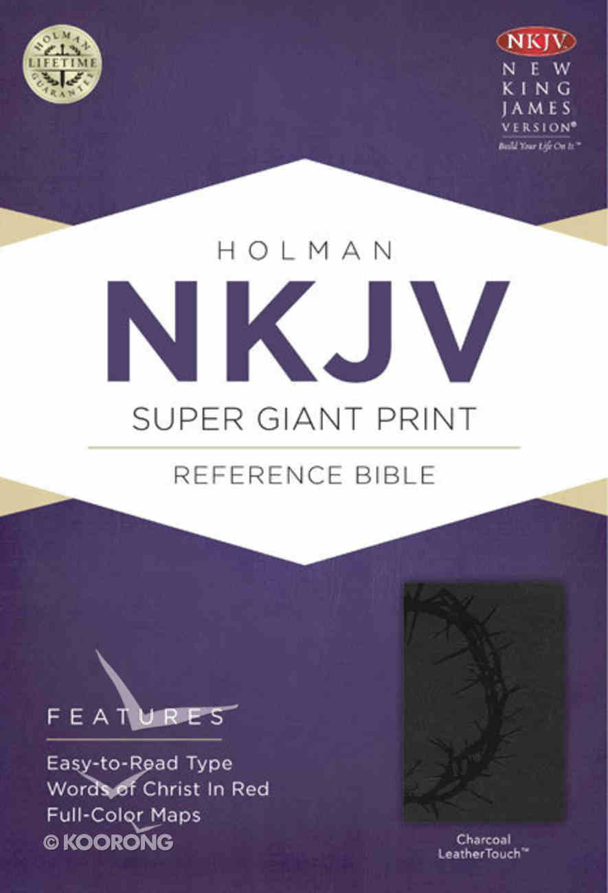 NKJV Super Giant Print Reference Bible Charcoal Premium Imitation Leather