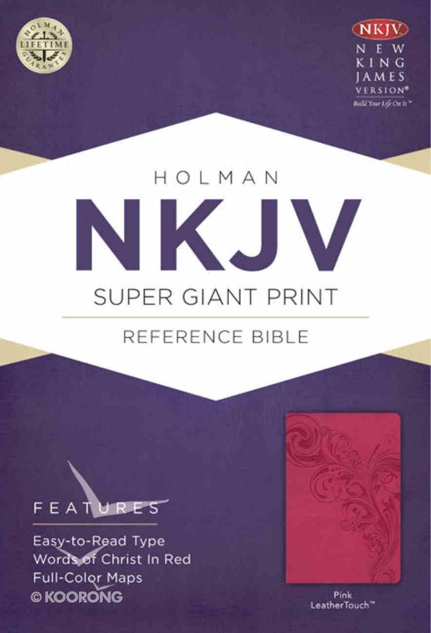 NKJV Super Giant Print Reference Bible Pink Premium Imitation Leather