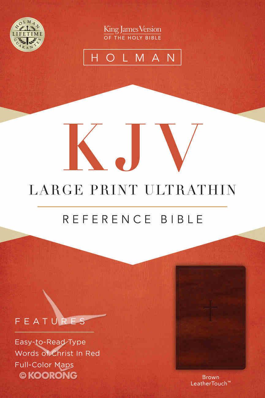 KJV Large Print Ultrathin Reference Bible Brown Premium Imitation Leather