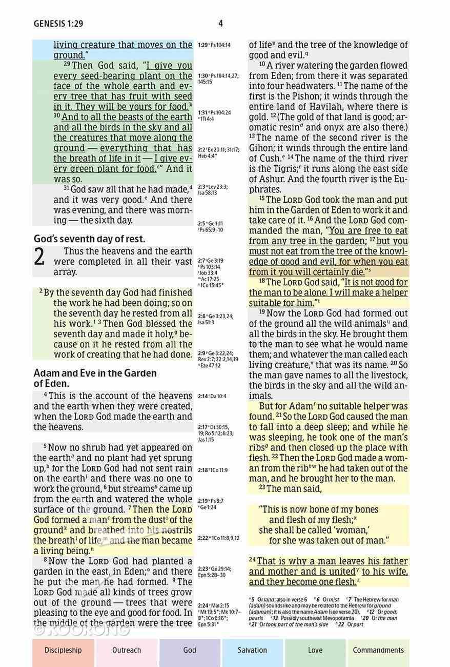 NIV Rainbow Study Bible Indexed Hardback