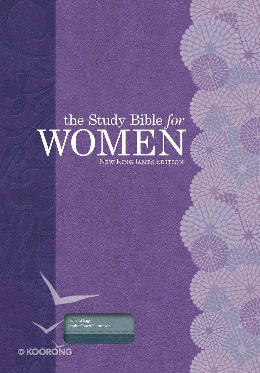 NKJV Study Bible For Women Teal/Sage Indexed Imitation Leather