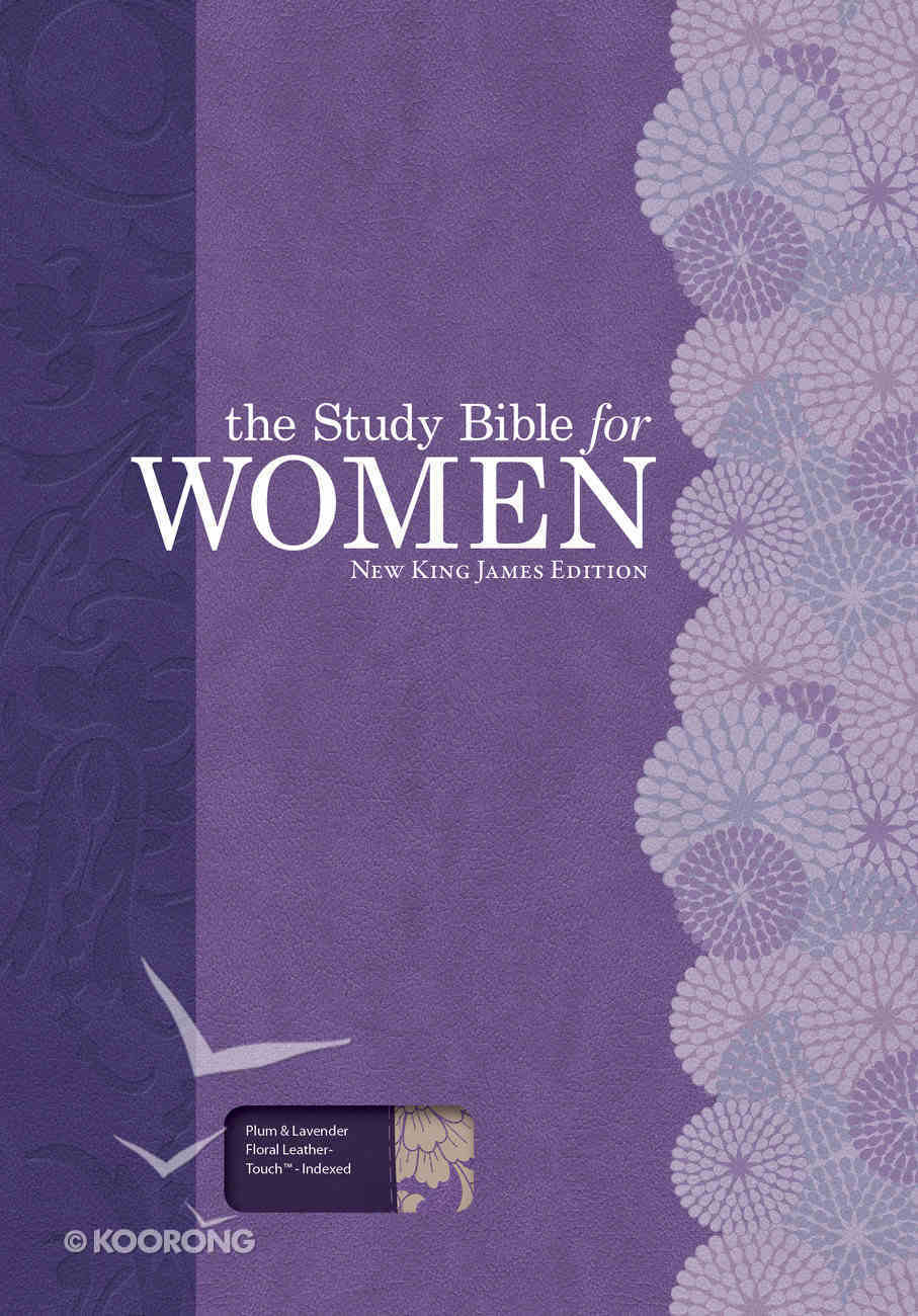 NKJV Study Bible For Women Plum/Lilac Indexed Imitation Leather