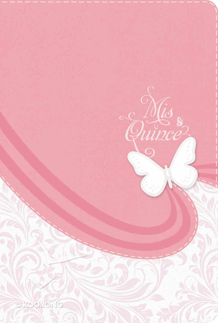 Rvr 1960 Biblia Mis Quince, Rosa Y Blanco Simil Piel Pink/White Imitation Leather