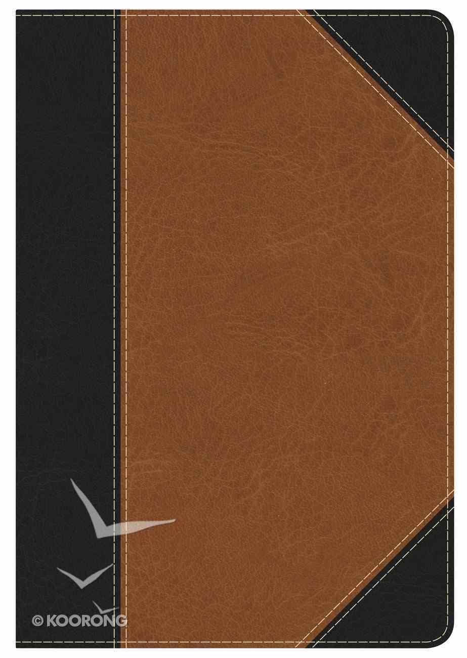 NKJV Holman Study Personal Size Indexed Bible Black/Tan Leathertouch Imitation Leather