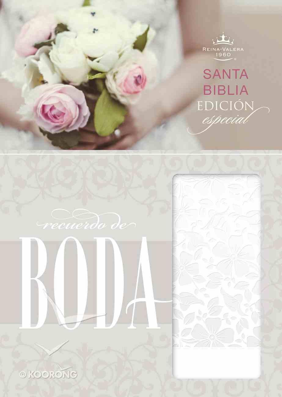 Rvr 1960 Biblia Recuerdo De Boda, Blanco Floral Simil Piel Imitation Leather
