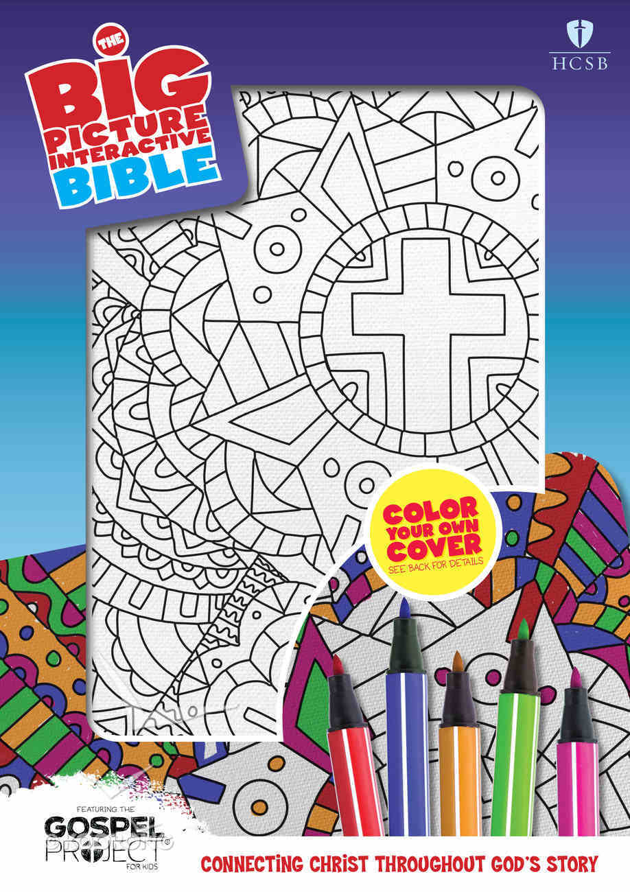 HCSB Big Picture Interactive Bible, Color-Your-Own, Cross Imitation Leather