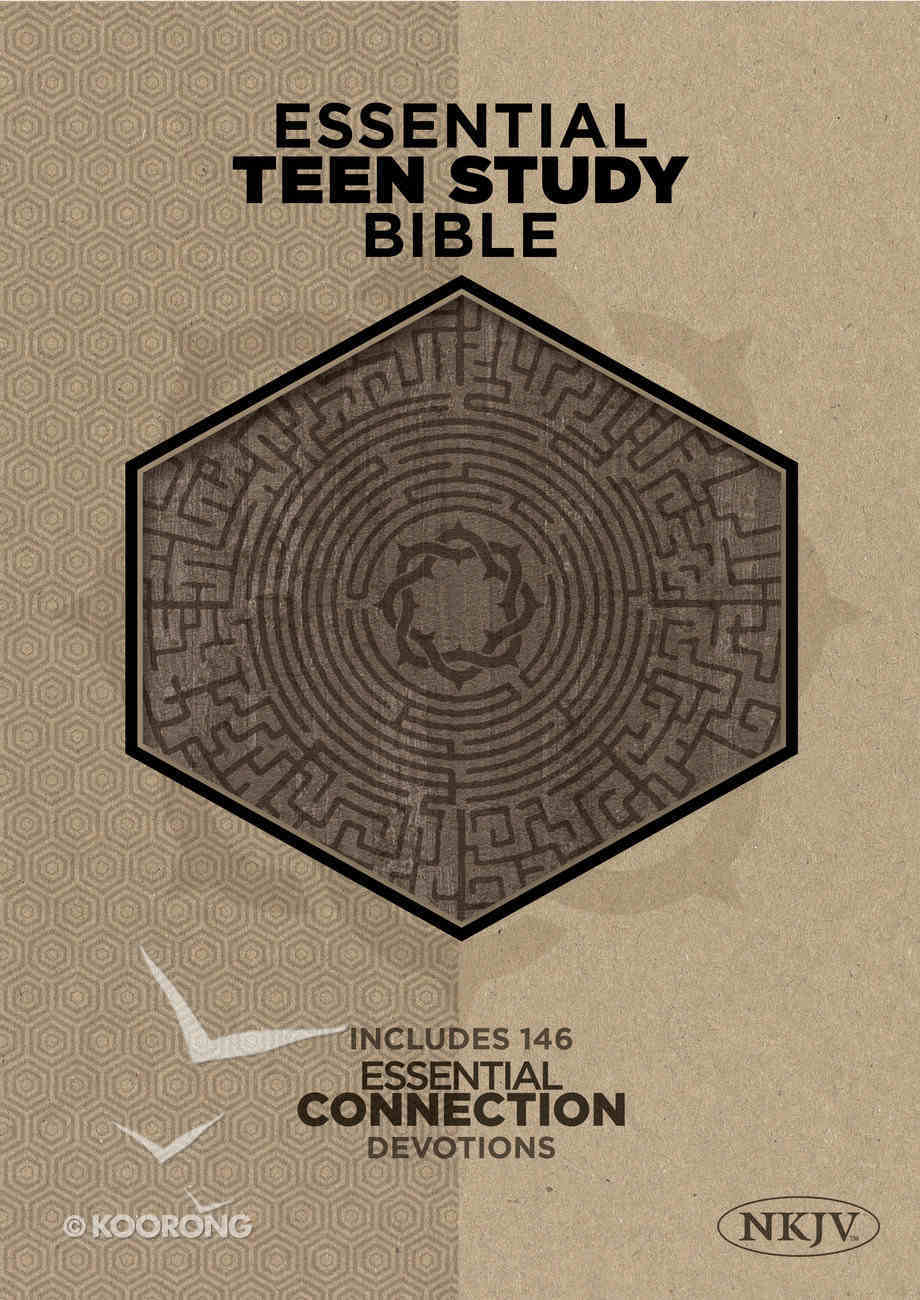 NKJV Essential Teen Study Bible Gray Cork Leathertouch Imitation Leather