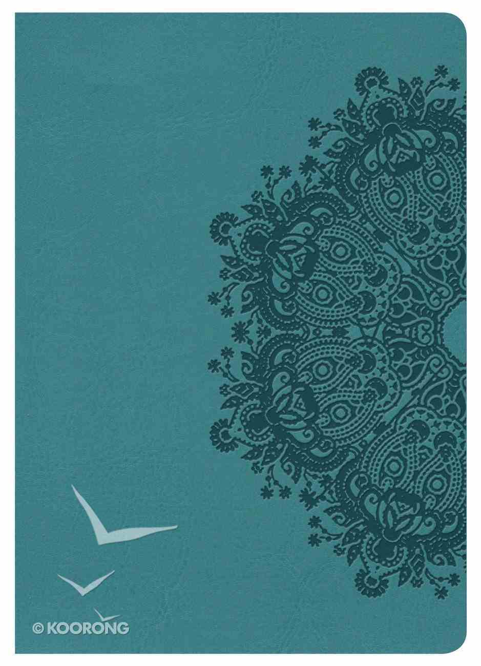 HCSB Large Print Compact Bible Teal Leathertouch Imitation Leather