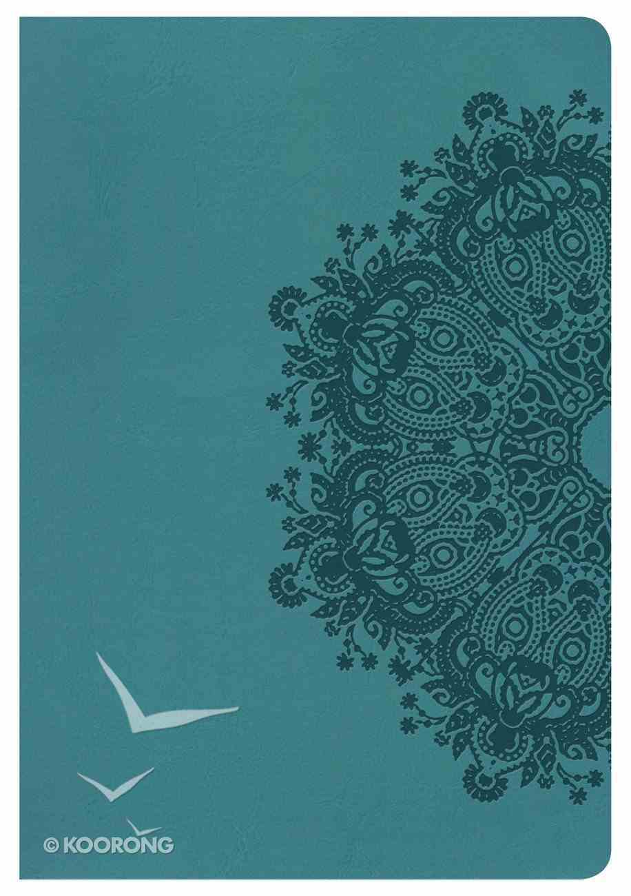 HCSB Large Print Ultrathin Reference Indexed Bible Teal Leathertouch Imitation Leather