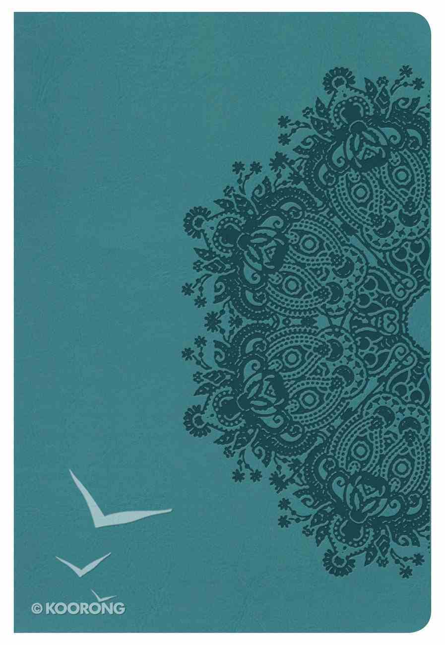 NKJV Large Print Personal Size Reference Indexed Bible Teal Imitation Leather