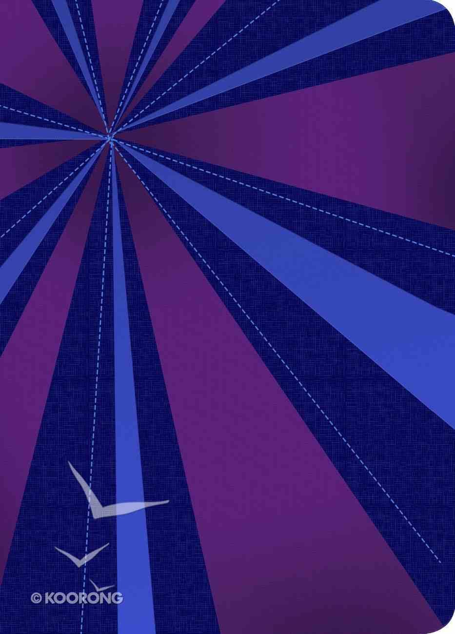Rvr 1960 Biblia Compacta Letra Grande, Rayos De Azul/Violeta Smil Piel Con Ndice (Blue/purple Imitation Leather) Imitation Leather
