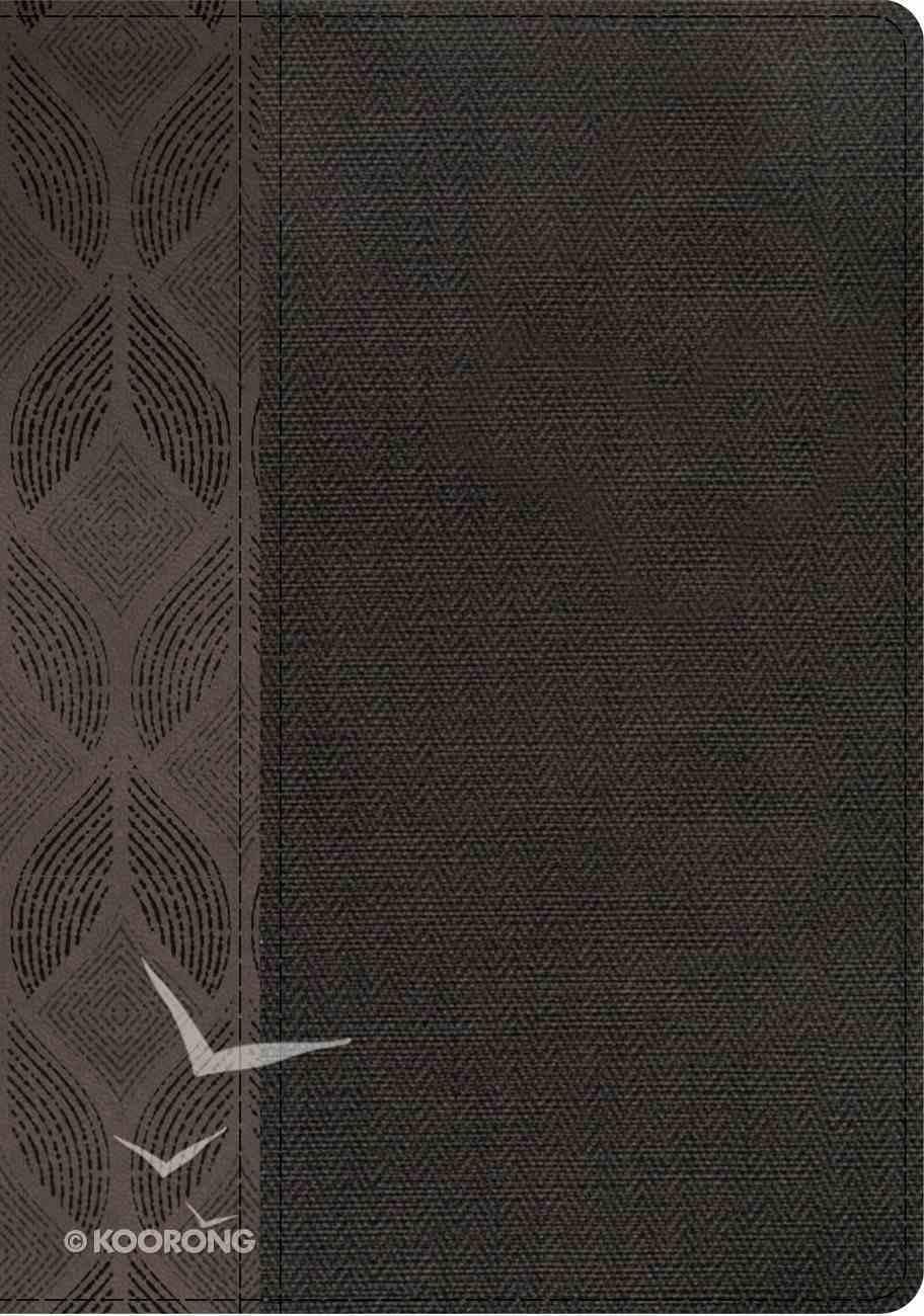 Rvr 1960 Biblia Compacta Letra Grande, Geomtrico/Twill Gris Smil Piel Con Ndice Imitation Leather