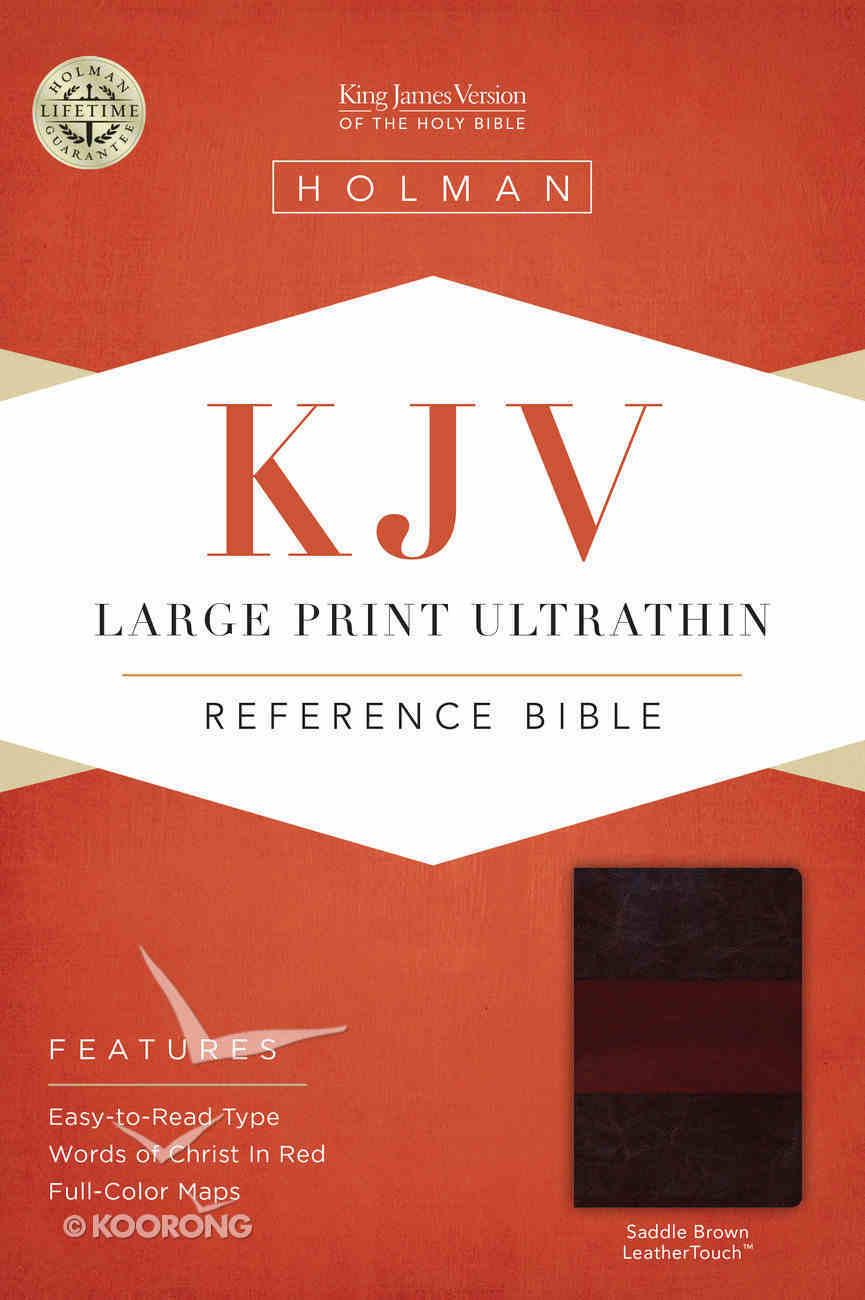 KJV Large Print Ultrathin Reference Bible, Saddle Brown Leathertouch Premium Imitation Leather