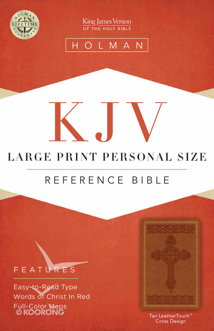 KJV Large Print Personal Size Reference Bible, Brown Leathertouch Premium Imitation Leather