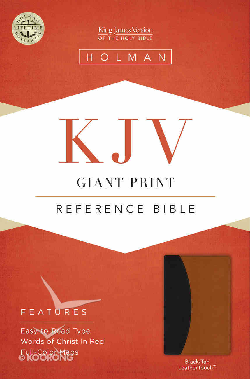 KJV Giant Print Reference Indexed Bible, Black/Tan Leathertouch Premium Imitation Leather