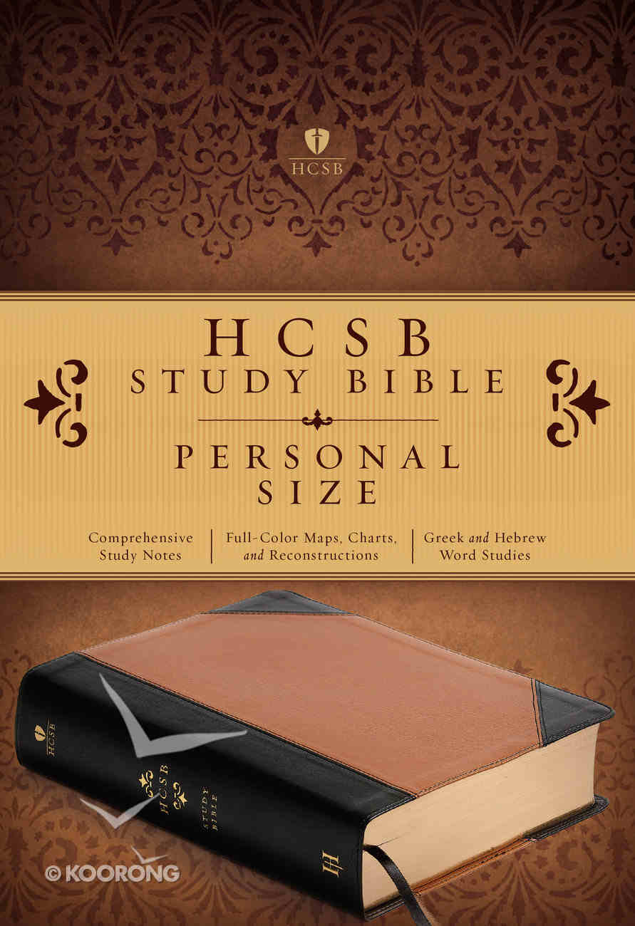 HCSB Study Bible Personal Size, Black/Tan Leathertouch Portfolio Premium Imitation Leather