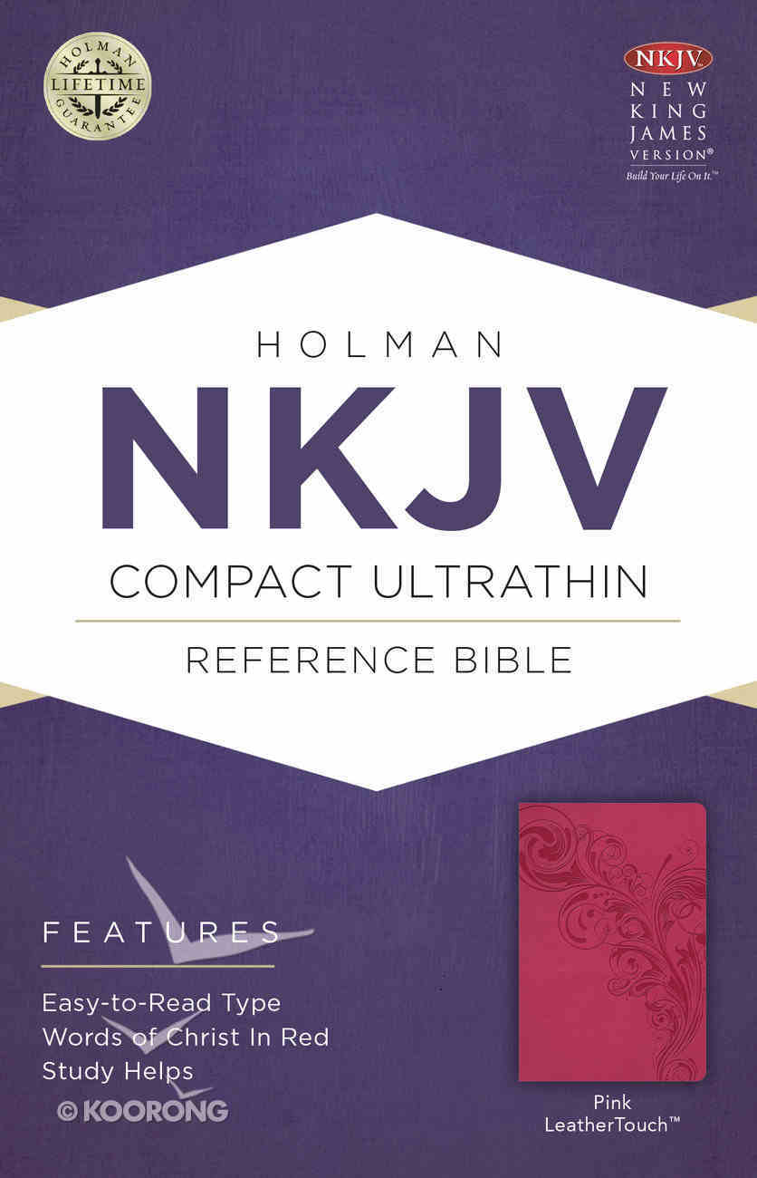 NKJV Compact Ultrathin Bible Pink Premium Imitation Leather