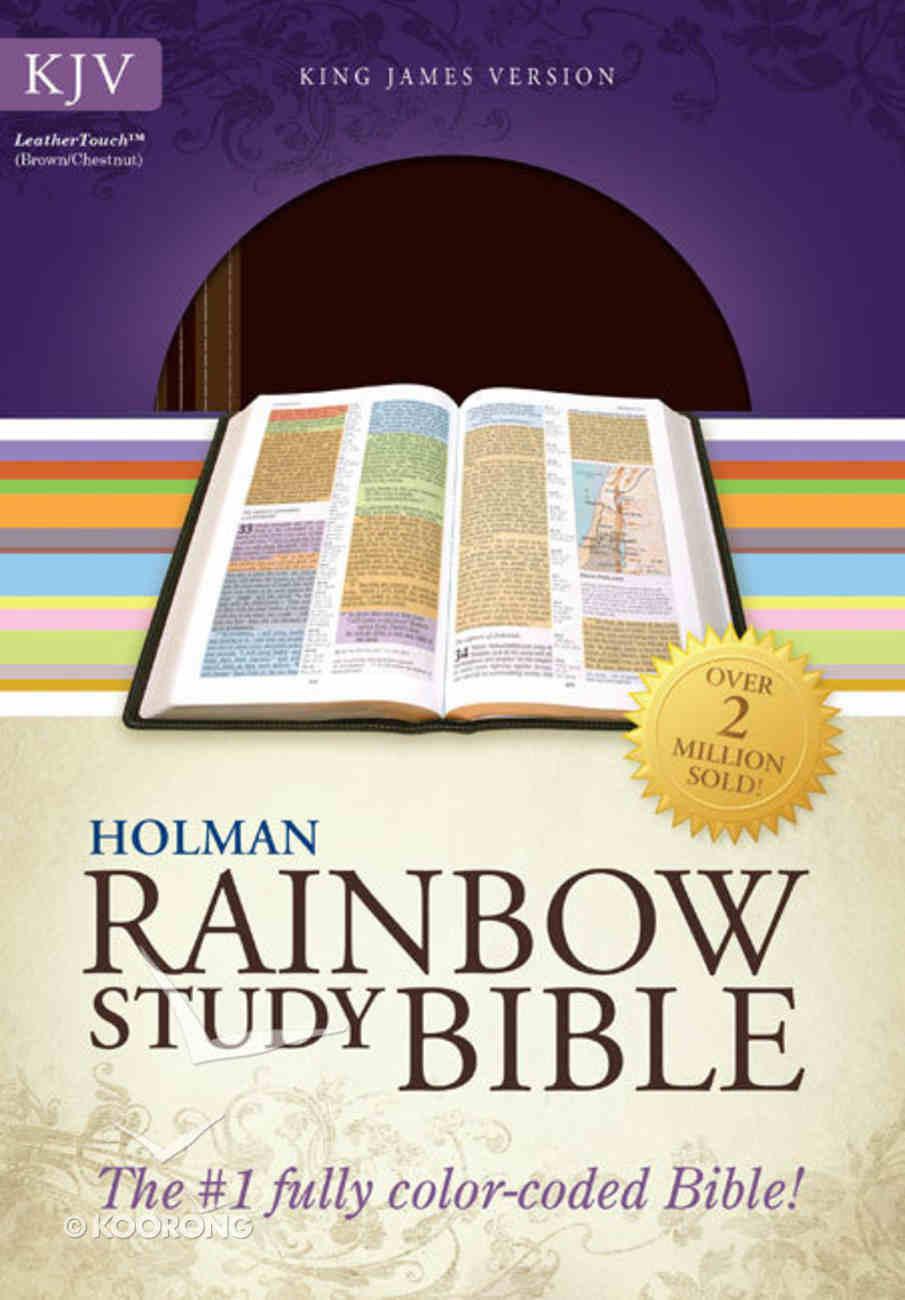 KJV Rainbow Study Bible Brown/Chestnut Leathertouch Imitation Leather