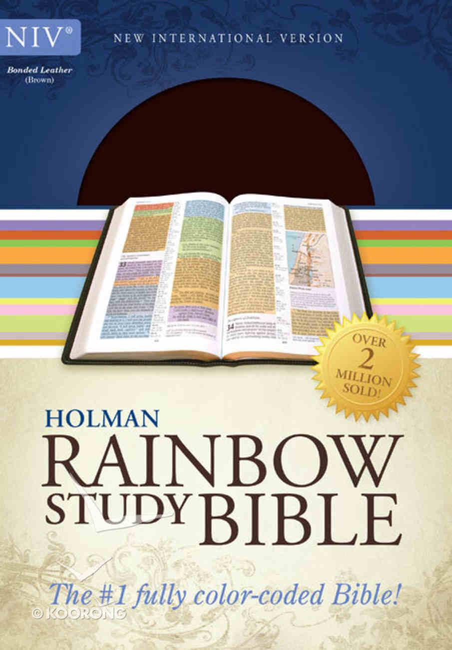 NIV Rainbow Study Bible Brown Bonded Leather
