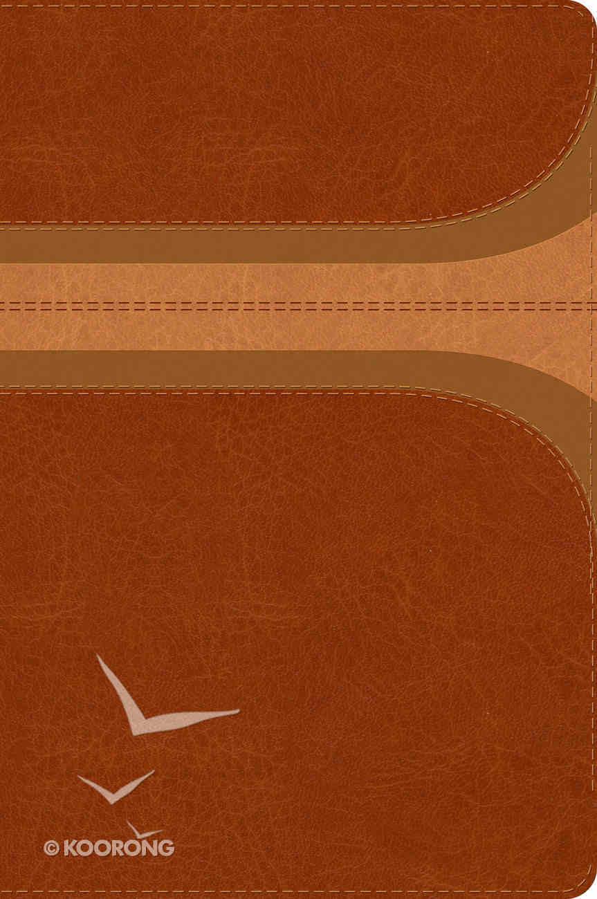 Rvr 1960 Biblia De Estudio Arco Iris Canela/Damasco Smil Piel Con Ndice (Spanish) Genuine Leather